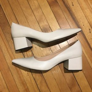 White Zara Pumps